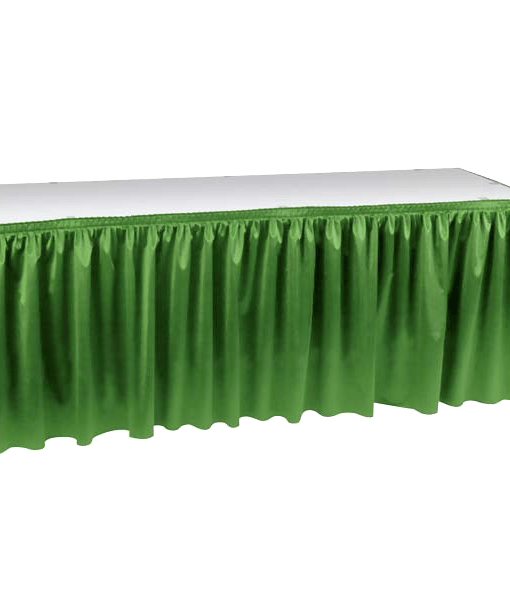 Kelly Green Poly Knit Table Skirting