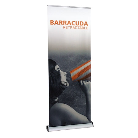 barracuda tradeshow banner stand