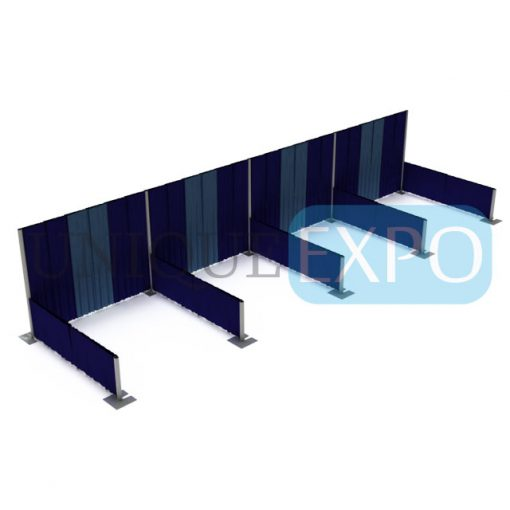 Four Booth Pipe and Drape Wall Kit