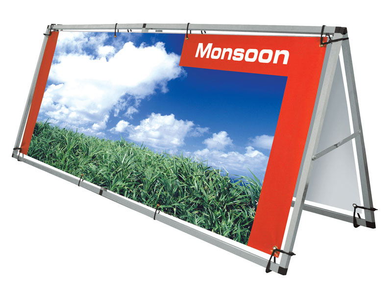 Monsoon Outdoor Banner   Unique Expo Pipe and Drape
