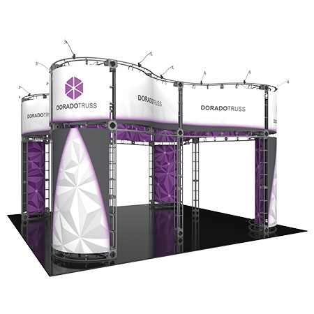 Dorado Truss System for Staging and Lighting Displays - Fits 20 x 20 Space