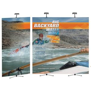 Range backwall banner stand