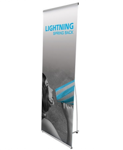 lightning banner stand