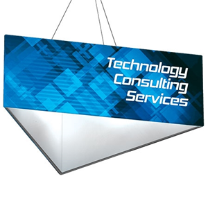 Triangle Hanging Displays for Trade Shows and Exhibitions