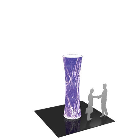 Custom Trade Show Cylinder Display - 10 ft Tall