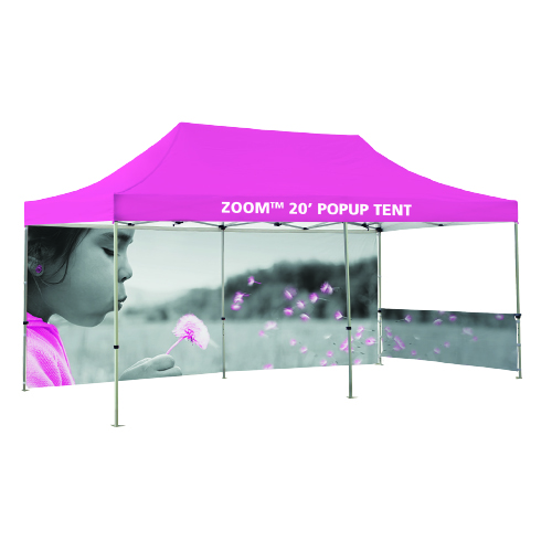 20 ft PopUp Event Tent with Custom Printed Backwall for Outdoor Events