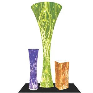 Funnels and Towers with Custom Graphics for Trade Show Displays