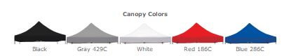 Solid Canopy Color Options for Event Tents