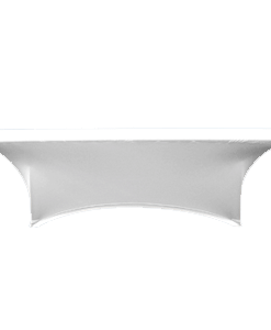 Stretch Fabric Classroom Table Covers - White
