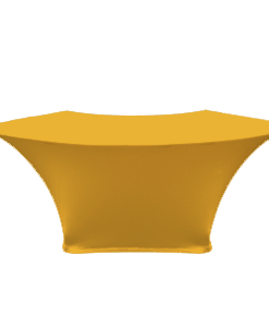 Stretch Fabric Serpentine Table Covers - Gold