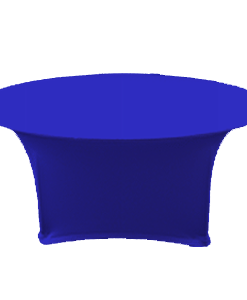 Sit Down Table Cover with Stretch Fabric - Royal Blue