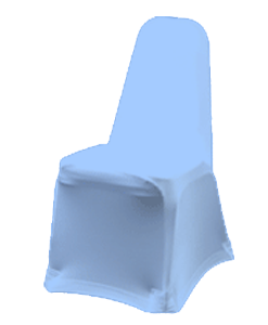 Stackable Stretch Fabric Chair Cover- Light Blue