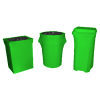 Stretch Fabric Trash Can Covers - Neon Green